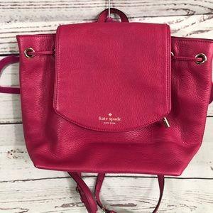 Kate Spade Bright pink backpack handbag